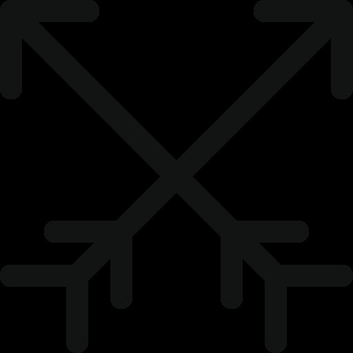 Ancienne icône de flèches croisées