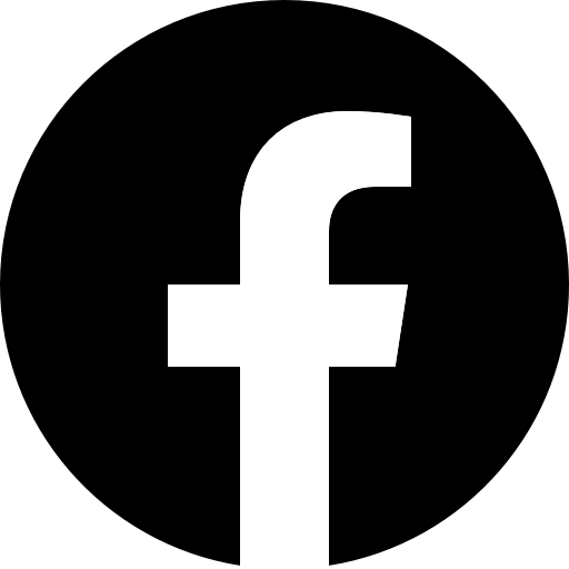 Icône Facebook noir