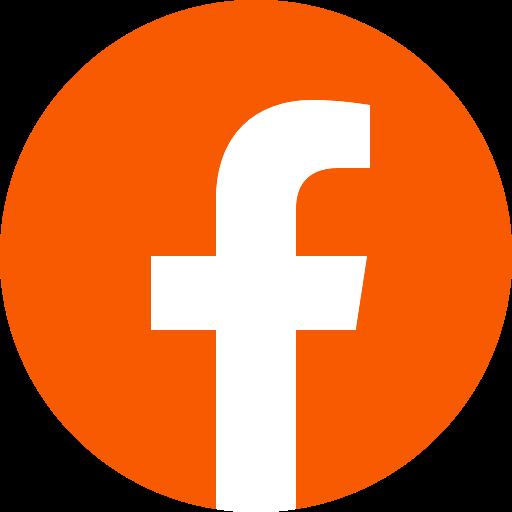 Icône Facebook orange