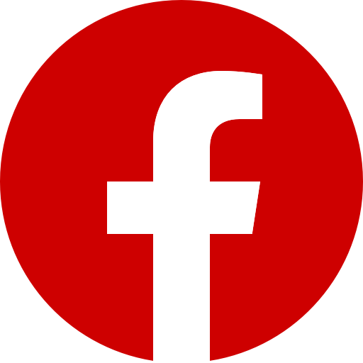 Icône Facebook rouge