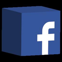 Facebook 3D logo icône