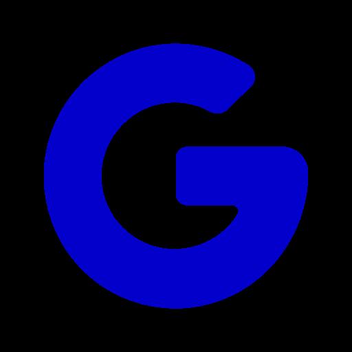 Google icône symbole PNG logo bleu