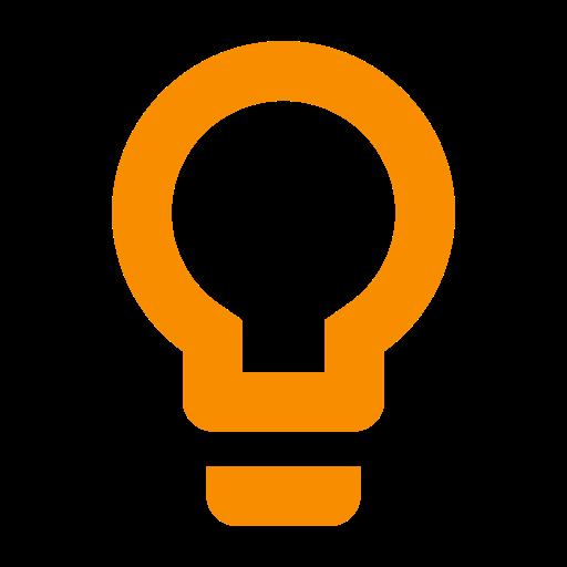 Icône ampoule et idée
