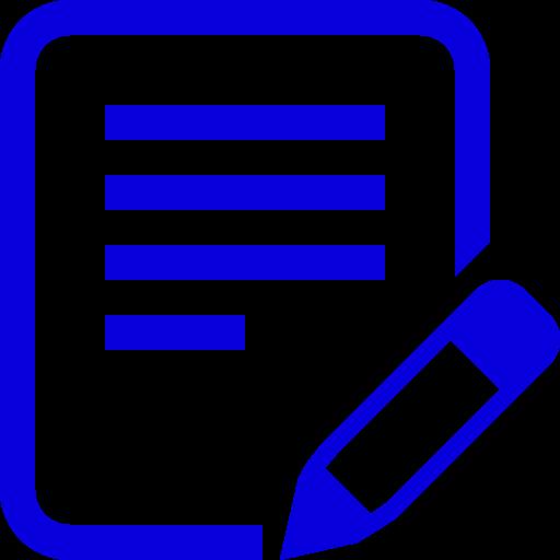 Icône d'écriture de texte PNG symbole bleu