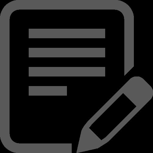 Icône d'écriture de texte PNG symbole gris