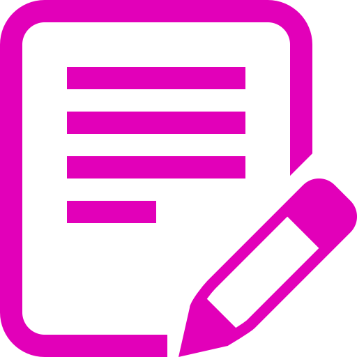 Icône d'écriture de texte PNG symbole rose