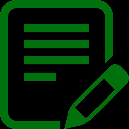 Icône d'écriture de texte PNG symbole vert
