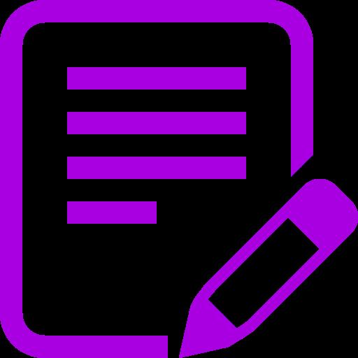 Icône d'écriture de texte PNG symbole violet