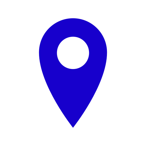 Icône de broche de localisation bleue