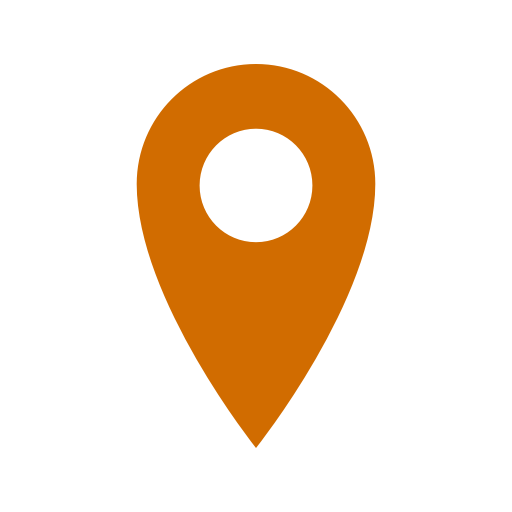 Icône de broche de localisation orange