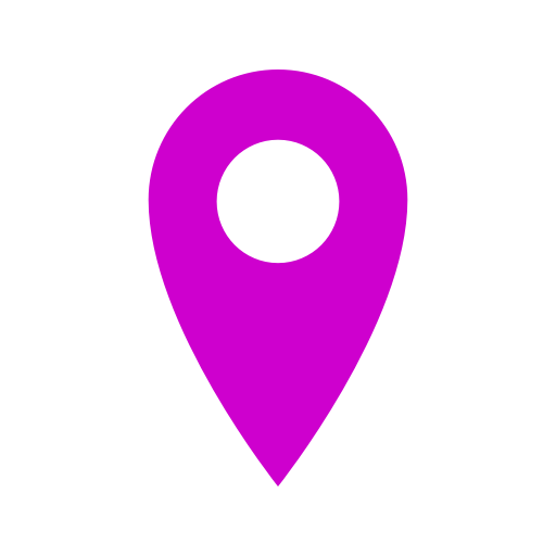 Icône de broche de localisation rose