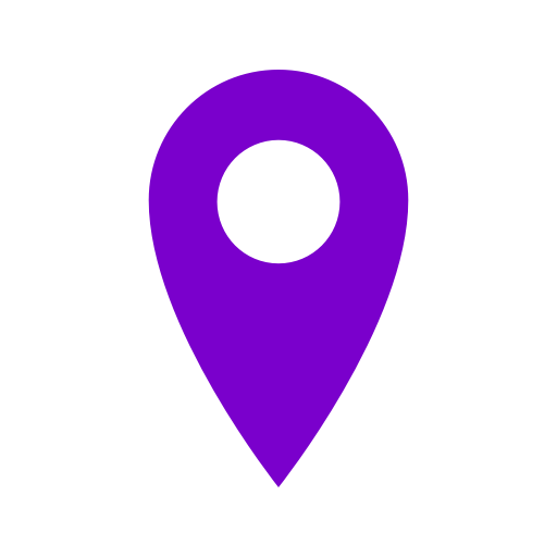 Icône de broche de localisation violette