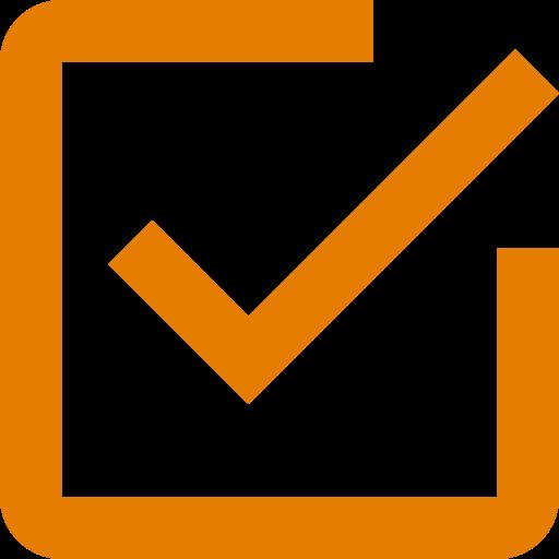 Icône de coche orange