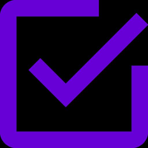 Icône de coche violette