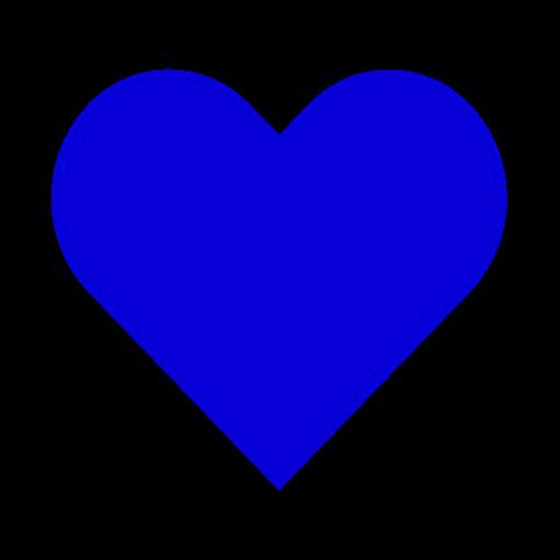 Icône de coeur bleu