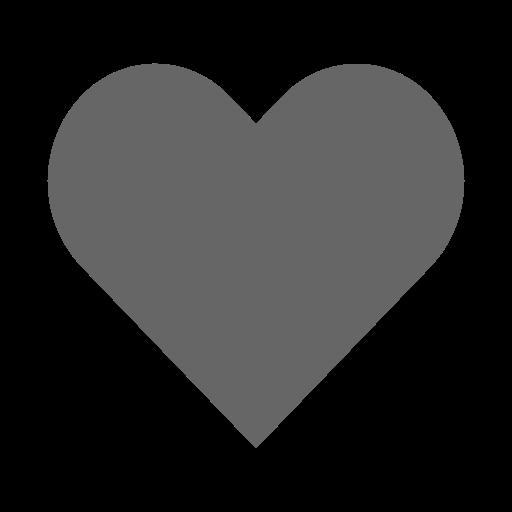 Icône de coeur gris