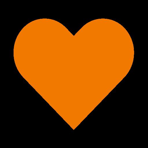 Icône de coeur orange