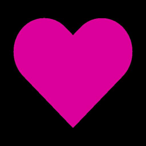 Icône de coeur rose