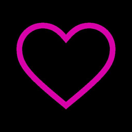 Icône de coeur creux rose