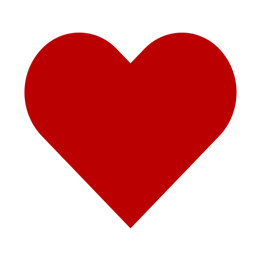 Icône de coeur rouge