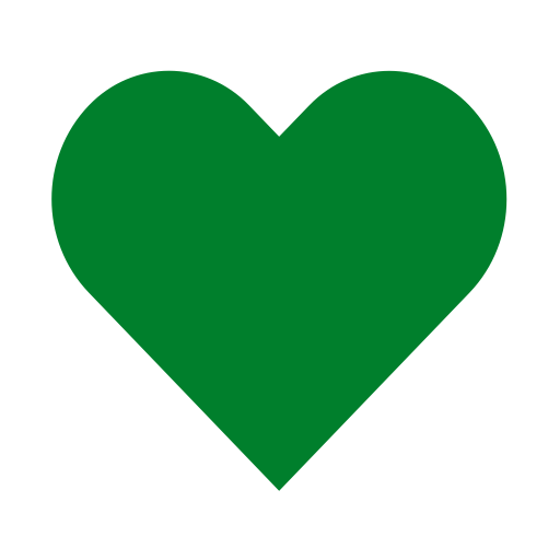 Icône de coeur vert