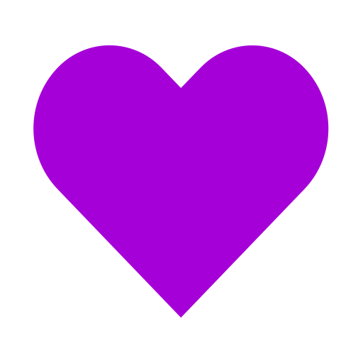 Icône de coeur violet