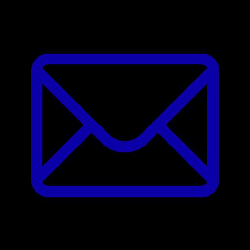 Icône de courrier électronique bleu