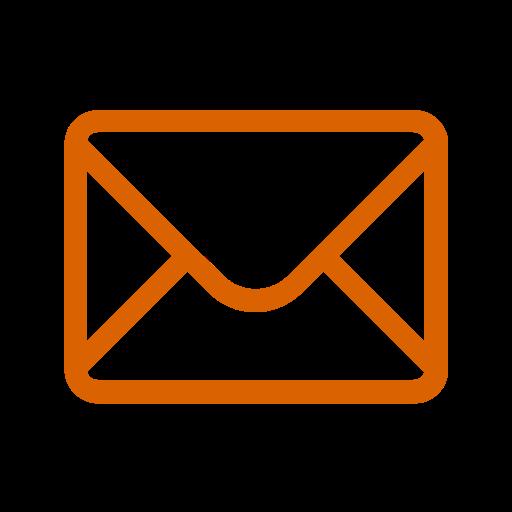 Icône de courrier électronique orange