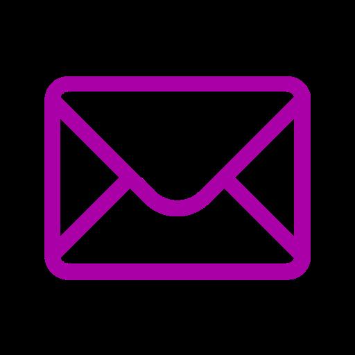 Icône de courrier électronique rose