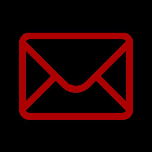Icône de courrier électronique rouge
