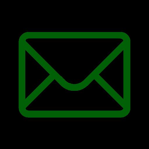Icône de courrier électronique vert