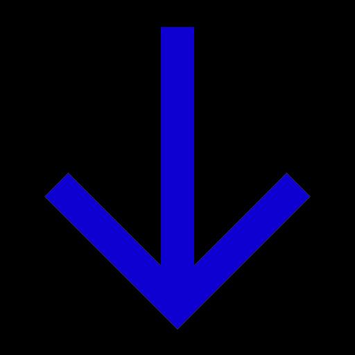 Icône de flèche bleue vers le bas