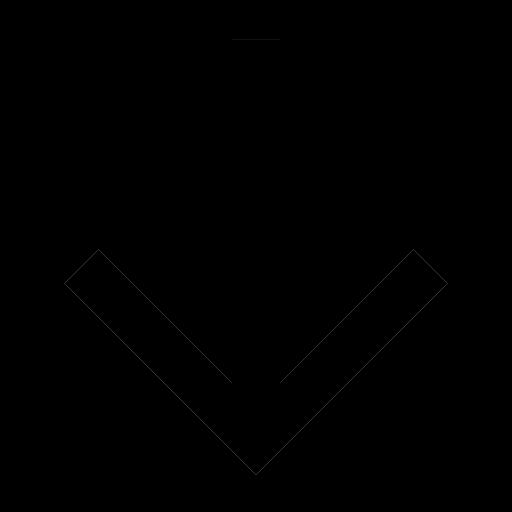 Icône de flèche vers le bas noire