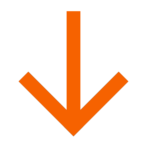 Icône de flèche vers le bas orange