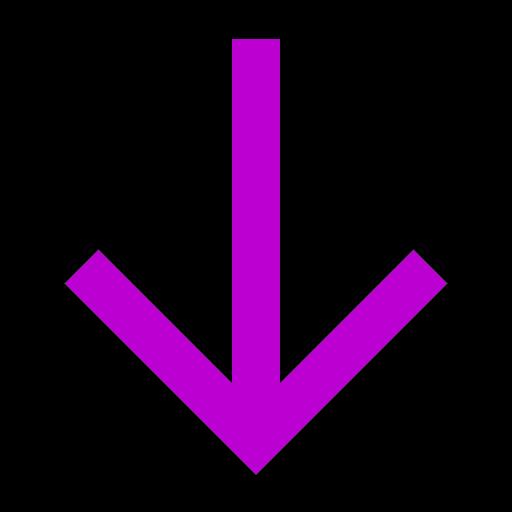Flèche vers le bas icône rose