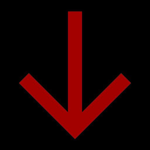 Icône de flèche rouge vers le bas