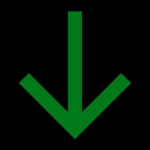 Icône de flèche verte vers le bas