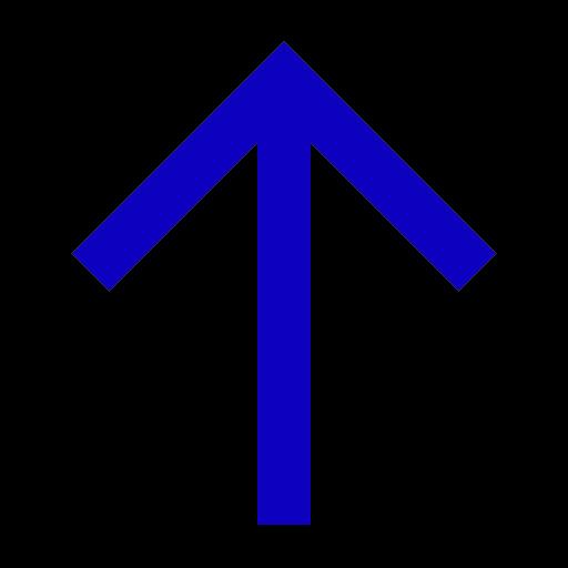 Icône de flèche bleue vers le haut