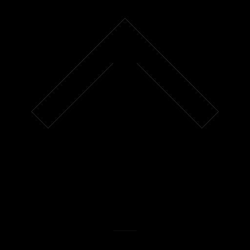 Icône de flèche noire vers le haut