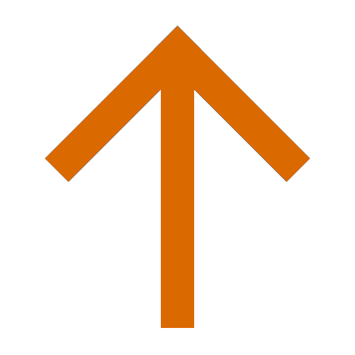 Icône de flèche vers le haut orange