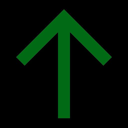 Icône de flèche verte vers le haut