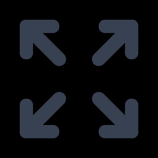 Icône de flèches pour agrandir