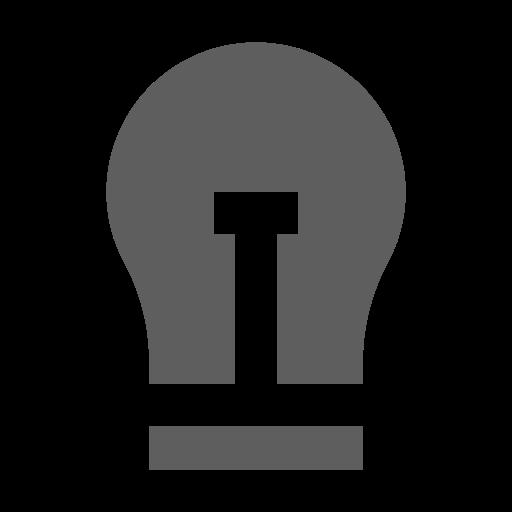 Icône d'ampoule grise