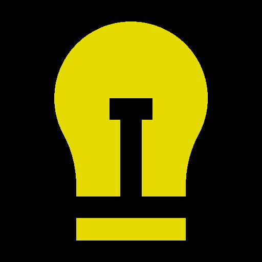Icône d'ampoule jaune