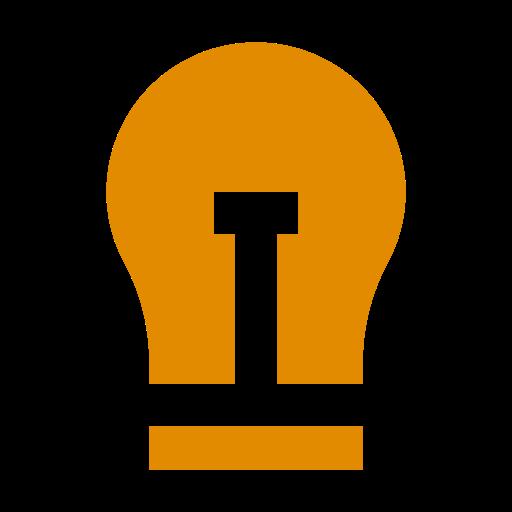 Icône d'ampoule orange