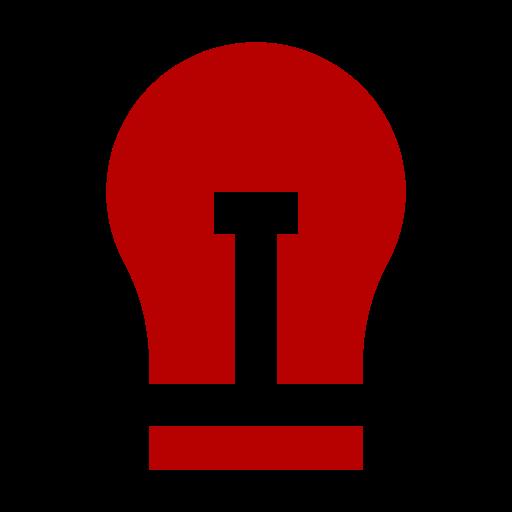 Icône de l'ampoule rouge