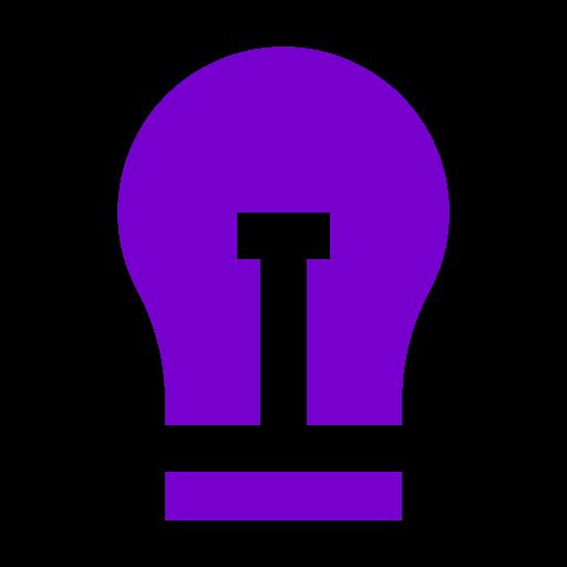 Icône d'ampoule violette