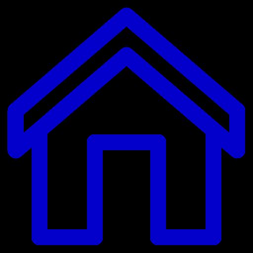 Icône de la maison bleue