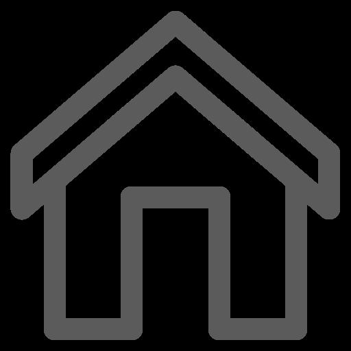 Icône de la maison grise