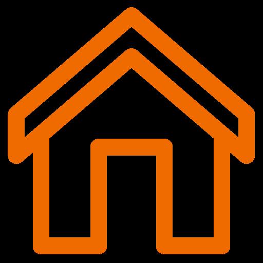 Icône de la maison orange